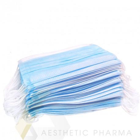Jednorazowe medyczne maseczki - 3 warstwy